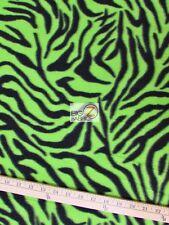 "ZEBRA PRINT POLAR FLEECE FABRIC - Lime - 60"" WIDTH SOLD BY THE YARD 6"