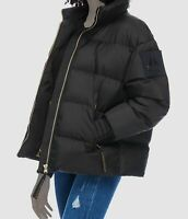 $995 Moose Knuckles Women Black Ellie Down Quilted Puffer Coat Jacket Size XS