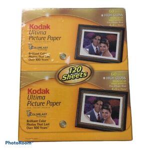 Kodak Ultima Photo Paper 120 Sheets High Gloss 4x6 - New Factory Sealed