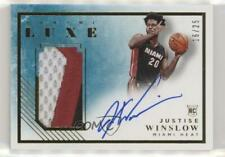 2015-16 Panini Luxe Memorabilia Prime /25 Justise Winslow #RM-JWL Rookie Auto