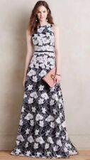 erin fetherston Alyssum Bhldn Dress Gown Wedding Mother Sz 4 Bridal Black White