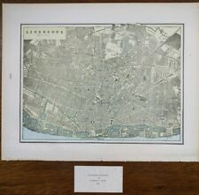 "Vintage 1900 LIVERPOOL Map 14""x11"" ~ Old Antique Original THE BEATLES"