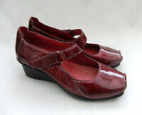 NEW CLARKS ACTIVE AIR FINNIS BLAZE WOMENS RED PATENT LEATHER SHOES SIZE 6 / 39.5