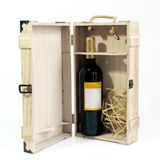 Single Bottle Wood Wine Case Crate Wine Box Carrier Storage Container