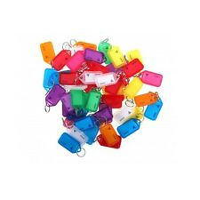 Kevron Key Ring Tags KID-5  - Mixed Colours - Bag of 50 Tags - FREE POSTAGE !!