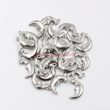 Lot 15pcs Stainless steel moon Charms pendant Silver Jewelry accessories silver