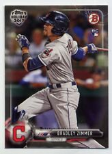 2017 Bowman BRADLEY ZIMMER Rookie Card RC HOLIDAY #TH-BZ Cleveland Indians SP