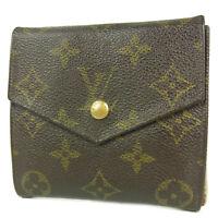 Sale! Auth LOUIS VUITTON Vintage Monogram Porte Monnaie Billet Wallet 3102b