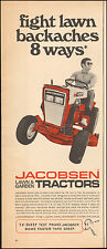 Vintage ad for Jacobsen Lawn & Garden Tractors Red Photo (012117)