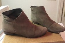 JOIE Morrison Tan Suede Leather Ankle Boots 37.5 / 7.5