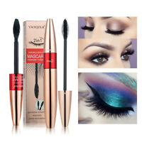 [2in1] 4D Silk Fiber Eye Lash Mascara Waterproof Natural Thick Mascara Extension