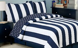 Ameristar Sailor Reversible Cotton Quilt Set, Bedspreads, Coverlet