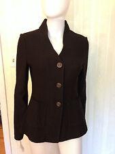 St. John Jacket Blazer Sweater Brown Classic Size 4