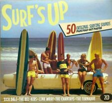 Surf's Up 50 Original Surfing Sounds 2 Cd Set Dick Dale Bal-airs Link Wray +More
