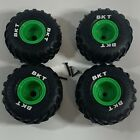 """Spin Master Monster Jam Grave Digger R/C 1:15 / Set of 4 BKT Tires Wheels (4"""")"""