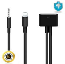 iPhone 4 to 5 6 6S 3.5mm Aux Audio Adapter Cable Black