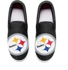 Pittsburgh Steelers Big Logo Slip-On Low Top Sneakers