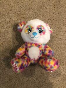 Build A Bear 2017 Plush Pastel Rainbow Confett Mini Panda 7 IN Stuffed Toy Plush