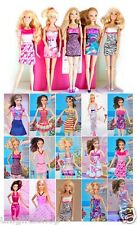 15-piece Barbie Dresses Clothes 5 Handmade Barbie Dresses 5 pairs shoes