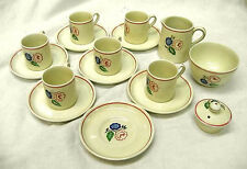 rare / ridgway tea set /  6 child sized demi mugs cups 16 pieces total / clean