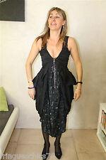adorable robe marine en soie viscose HIGH USE taille 38  NEUVE S ÉTIQUETTE