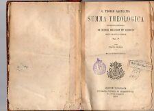 sancti thomae aquinatis- summa theologica - tomus I° pars I° 1893 armsp et 1
