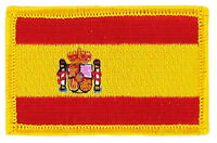 FLAG PATCH PATCHES SPANISH SPAIN IRON ON COUNTRY EMBROIDERED WORLD FLAG