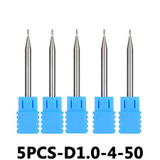 Solid Carbide End Mill Bits 1mm Cutting Dia 4mm Shank For Aluminum CNC Cutter