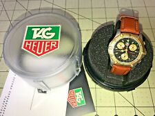 TAG Heuer Watch CE1120 Professional 200 Chronograph 38mm & Leather Band Is New