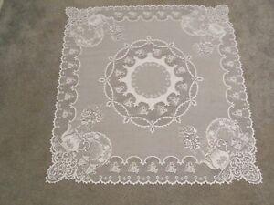"Lace Table Topper Ivory Teapot design 35"" x 35"""