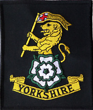 YORKSHIRE REGIMENT GREEN FLASH HOOK /& LOOP MILITARY CLOTH PATCH