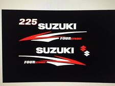 Suzuki 225 hp Four Stroke outboard engine decal sticker reproduction set