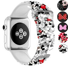 For Apple Watch Armband Nettes Mickey Mouse Weiches Silikonband Für Serie 5 4