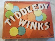 Vintage Mid Century Tiddledy Winks J Pressman Co NY Game and Box Rare Tiddley
