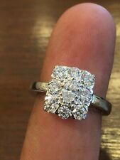 Pave 1.40 TCW Oval Round Cut Natural Diamonds Anniversary Ring In 750 18K Gold