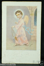 OLD BLESSED SAINT ANGEL CHILD HOLY CARD YEAR ANDACHTSBILD SANTINI  SEE SHOP C920