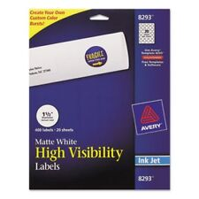 Avery Inkjet Labels for Color Printing, 1-1/2in dia, White, 400/Pack (AVE8293)