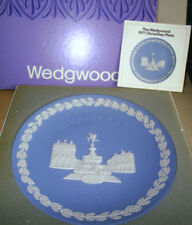 Wedgwood Jasperware Blue Piccadilly Circus Christmas Plate 1971 Boxed