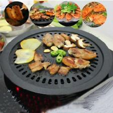 Barbecue Grill Non-stick Korean Outdoor Round Pan BBQ Tool Cooking Accessories