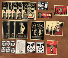 SHEPARD FAIREY Obey Giant RARE stickers 25 And Obey Manifesto