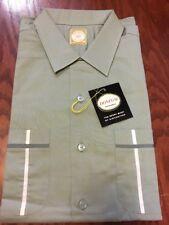 Vtg 50s 60s Rockabilly VLV Shirt Mens L NOS NWT Deadstock Loop Collar Atomic L/S
