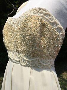 SALE!!! Wedding dress Notre Dame De Paris 12-14 luxury Embroidered Beaded