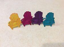 Beach chairs napkin Rings - Set of 4