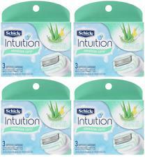 Schick Intuition Sensitive Care Moisturizing Razor Blade Refills, 12 Cartridges