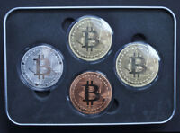 4Pcs/ set Bitcoin Coins (Collectible) Gold-Silver-Copper-Bronze  Fast Shipping