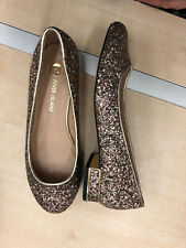 river island Ladies/girls Gold Glitter Shoes New Size 5 sparkly party shoes