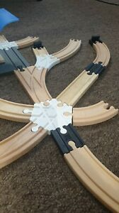 Wooden Train Playset 6-way Junction, Track Intersection (Lidl, Aldi, Ikea, Brio)