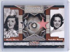 2011 Americana Bette Davis & Natalie Wood dual worn costume swatch card #28/99