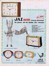 Publicité Advertising 016 1968 Jaz dator réveil