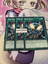 Common 1st Edition Near Mint Speed Duel 4x Iron Draw SBTK-EN038 Trials